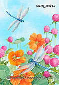 Ingrid, FLOWERS, BLUMEN, FLORES,dragonfly,dragonflies, paintings+++++,USISMN24S,#f#, EVERYDAY