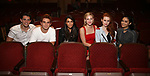 "Casey Cott, KJ Apa, Marisol Nichols, Lili Reinhart, Madelaine Petsch and Camila Mendes from the cast of ""Riverdale"" visits Broadway's ""Bandstand"" at the Bernard Jacobs Theate on May 19, 2017 in New York City."