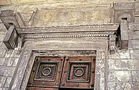 Maison Carrée door and mantel detail
