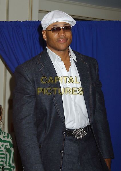 "LL COOL J.At the ""Edison"" Press Conference held at Sutton Place Hotel during The Toronto Film Festival,.Toronto, 17th September 2005.half length white cap sunglasses navy suit.Ref: ADM/LF.www.capitalpictures.com.sales@capitalpictures.com.© Capital Pictures."