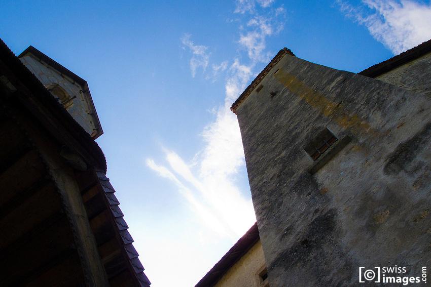 Château de la Gruyère (Castle) tower and chapel
