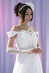 July 31, 2010 - Tokyo, Japan - A model displays a wedding dress on the catwalk during the Tokyo Wedding Collection 2010 Autumn & Winter fashion show held in Tokyo International Forum, Japan, on July 31, 2010.