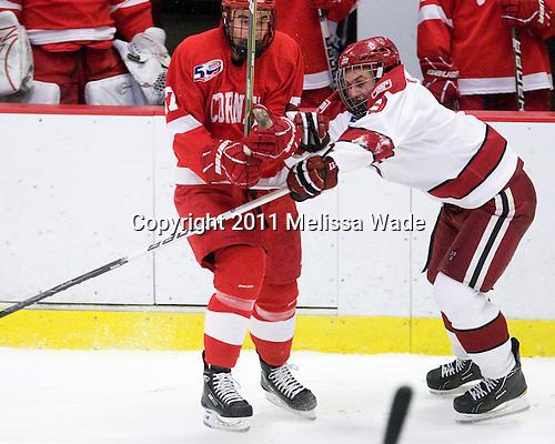 Jordan Kary (Cornell - 17), Danny Biega (Harvard - 9) - The visiting Cornell University Big Red defeated the Harvard University Crimson 2-1 on Saturday, January 29, 2011, at Bright Hockey Center in Cambridge, Massachusetts.