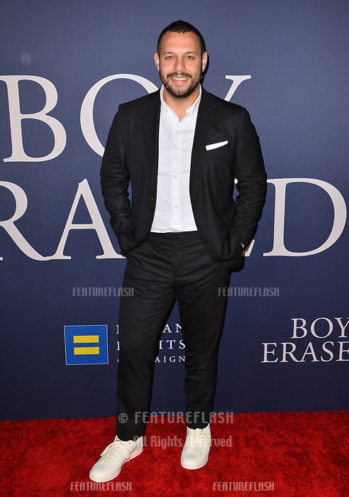 LOS ANGELES, CA. October 29, 2018: Matthew Shurka at the Los Angeles premiere for &quot;Boy Erased&quot; at the Directors Guild of America.<br /> Picture: Paul Smith/Featureflash