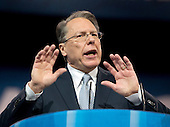 Wayne LaPierre, Chief Executive Officer, National Rifle Association, makes remarks at CPAC 2013 At the Gaylord National Resort & Convention Center in National Harbor, Maryland on Friday, March 15, 2013..Credit: Ron Sachs / CNP