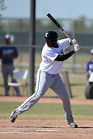 Chicago White Sox first baseman Keon Barnum (40) during an Instructional League game against the Los Angeles Dodgers on October 12, 2013 at Camelback Ranch Complex in Glendale, Arizona.  (Mike Janes/Four Seam Images)