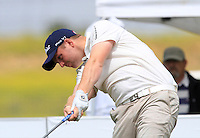 Max Orrin (ENG) on the 1st tee during Round 1 of the Challenge de Madrid, a Challenge  Tour event in El Encin Golf Club, Madrid on Wednesday 22nd April 2015.<br /> Picture:  Thos Caffrey / www.golffile.ie