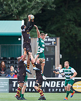 Match action during the RFU Championship Cup match between Ealing Trailfinders and Ampthill RUFC at Castle Bar , West Ealing , England  on 28 September 2019. Photo by Alan  Stanford / PRiME Media Images