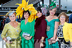 Enjoying Ladies Day at Listowel Races on Friday last, were l-r: Betty Stack (Listowel), Veronica Houlihan (Dingle), Laura Horgan (Finuge) with Diane Jeffers and Bridget Kerins (Tralee).
