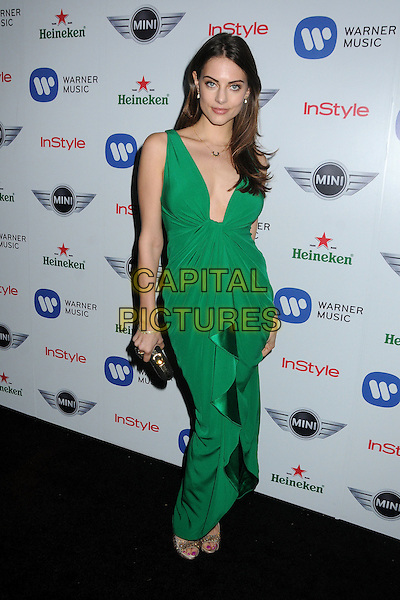 Julia Voth.Warner Music Group 2013 Grammy Celebration held at The Chateau Marmont, West Hollywood, California, USA..February 10th, 2013.full length dress clutch bag black green sleeveless .CAP/ADM/BP.©Byron Purvis/AdMedia/Capital Pictures.
