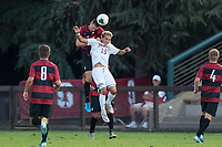 Stanford, CA - September 13, 2019: Stanford defeats the  University of Denver Pioneers 2-0 in a Men's soccer game at Laird Q. Cagan Stadium.
