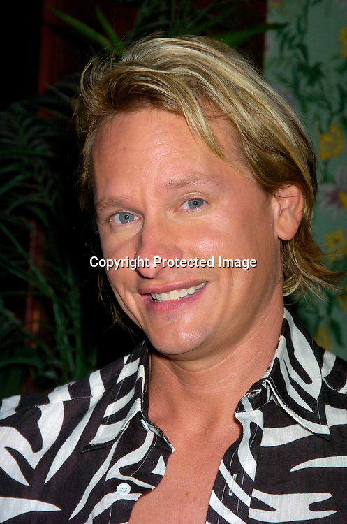 Carson Kressley..at the benefit for Sidewalk Angels Foundation on August 3, 2004 at The China Club. ..Photo by Robin Platzer, Twin Images..