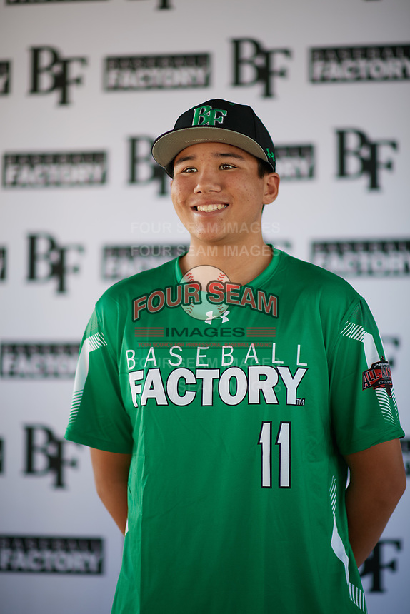 Jonathan Clark (11) of Mission Hills High School in San Marcos, California during the Baseball Factory All-America Pre-Season Tournament, powered by Under Armour, on January 12, 2018 at Sloan Park Complex in Mesa, Arizona.  (Zachary Lucy/Four Seam Images)