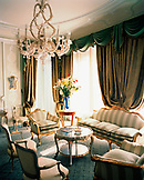 ITALY, Venice, interior of empty living room of Gritti Palace Hotel