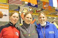 SCHAATSEN: HEERENVEEN: IJsstadion Thialf, 03-2003, VikingRace, Anna Rokita (AUT), Sanne van der Star (NED), Annette Gerritsen (NED), ©foto Martin de Jong