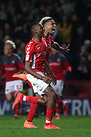 Joe Aribo and Lyle Taylor of Charlton race upfield to celebrate their shoot-out victory with goalkeeper, Dillon Phillips during Charlton Athletic vs Doncaster Rovers, Sky Bet EFL League 1 Play-Off Football at The Valley on 17th May 2019