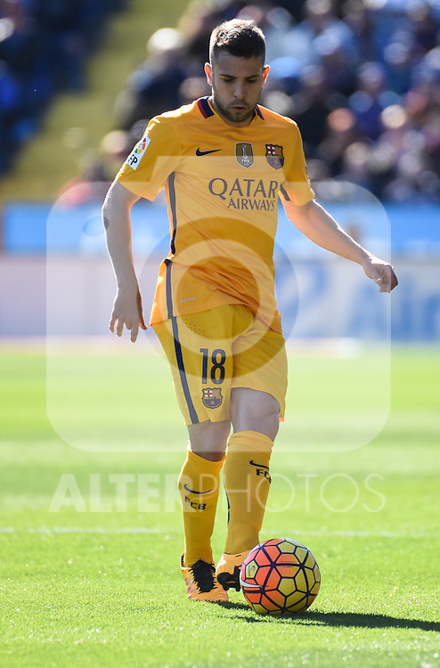 FC Barcelona's Jordi Alba  during La Liga match. February 7, 2016. (ALTERPHOTOS/Javier Comos)