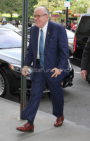 NEW YORK, NY - MAY 11:   Former Mayor of New York City Rudy Giuliani spotted arriving at Midtown Manhattan restaurant in New York, New York on May 11, 2016. Photo Credit: Rainmaker Photo/MediaPunch