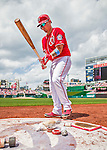 21 June 2015: Washington Nationals catcher Jose Lobaton on deck during game action against the Pittsburgh Pirates at Nationals Park in Washington, DC. The Nationals defeated the Pirates 9-2 to sweep their 3-game weekend series, and improve their record to 37-33. Mandatory Credit: Ed Wolfstein Photo *** RAW (NEF) Image File Available ***