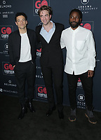 17 November 2019 - Los Angeles, California - Rami Malek, Robert Pattinson, John David Washington. Go Campaign's 13th Annual Go Gala held at NeueHouse Hollywood. Photo Credit: PMA/AdMedia