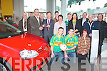 Denis Divane presents Noel Brosnan with keys for a new Volkswagen Golf which will be top prize on for the development draw front row l-r: Padraig Reidy, Denis Walsh, Kathleen Curtin. Dan Nelligan, Liam Bell, Thomas O'Connor, Noel Brosnan, Denis Devane, Michael Murphy, Ellen Barrett, Tom Roche, Michelle Roche, Eamon Walsh, Fr Mangan and Jim Sullivan    Copyright Kerry's Eye 2008