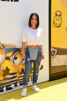 Becky G at the world premiere for &quot;Despicable Me 3&quot; at the Shrine Auditorium, Los Angeles, USA 24 June  2017<br /> Picture: Paul Smith/Featureflash/SilverHub 0208 004 5359 sales@silverhubmedia.com