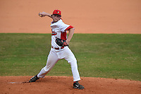 Illinois State Redbirds pitcher Steve Heilenbach (10) during a game against the Bowling Green Falcons on March 11, 2015 at Chain of Lakes Stadium in Winter Haven, Florida.  Illinois State defeated Bowling Green 8-7.  (Mike Janes/Four Seam Images)