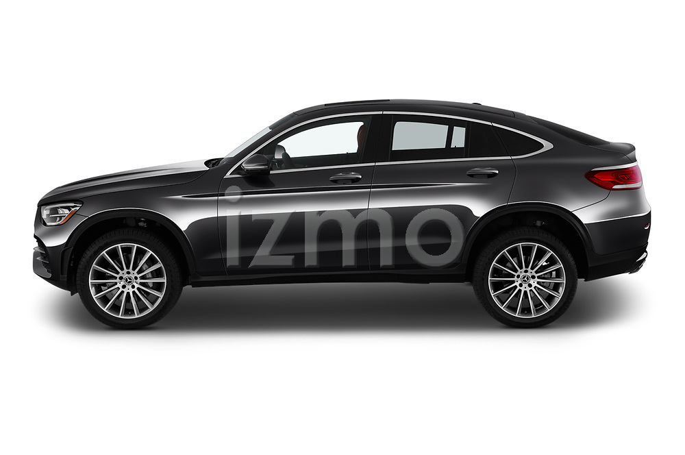 Car Driver side profile view of a 2020 Mercedes Benz GLC-Coupe GLC300 5 Door SUV Side View