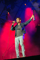19th July 2014: English singer songwriter and Blur frontman Damon Albarn headlines the Obelisk Arena on the third day of the 9th edition of the Latitude Festival, Henham Park, Suffolk.