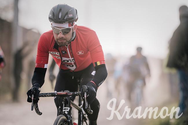 Victor Campenaerts (BEL/Lotto-Soudal)<br /> <br /> 50th GP Samyn 2018<br /> Quaregnon > Dour: 200km (BELGIUM)