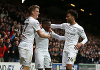 Queens Park Rangers' Yeni Atito Ngbakoto celebrates scoring his sides first goal with Matt Smith and James Perch<br /> <br /> Photographer /Rob NewellCameraSport<br /> <br /> The EFL Sky Bet Championship - Queens Park Rangers v Cardiff City - Saturday 4th March 2017 - Loftus Road - London<br /> <br /> World Copyright &copy; 2017 CameraSport. All rights reserved. 43 Linden Ave. Countesthorpe. Leicester. England. LE8 5PG - Tel: +44 (0) 116 277 4147 - admin@camerasport.com - www.camerasport.com