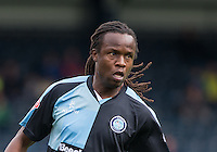 Marcus Bean of Wycombe Wanderers during the Sky Bet League 2 match between Wycombe Wanderers and Hartlepool United at Adams Park, High Wycombe, England on 5 September 2015. Photo by Andy Rowland.