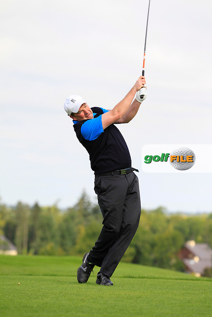 Eoin Ryan (Lisselan) on the 6th tee during the AIG Jimmy Bruen Shield Final between Lisselan &amp; Waterford in the AIG Cups &amp; Shields at Carton House on Saturday 20th September 2014.<br /> Picture:  Thos Caffrey / www.golffile.ie