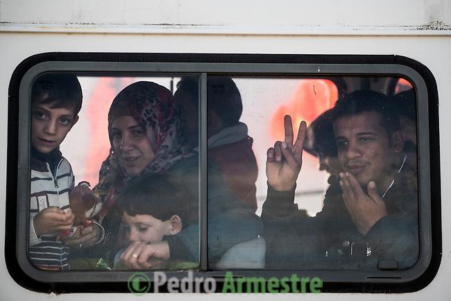 2015/12/02. Molyvos, Lesbos, Grecia. <br /> Three months after the death of Aylan Kurdi, Save the Children remember that the security of the borders can not be above the rights of refugees. Only in Greece, 728,000 refugees have arrived this year, 26% are children. Most small boats have arrived in the Greek island of Lesbos from Turkey. Pedro Armestre / Save the Children.<br /> Tres meses despu&eacute;s de la muerte de Aylan Kurdi, Save the Children recuerda que la seguridad de las fronteras no puede estar por encima de los derechos de los refugiados. Solo a Grecia han llegada m&aacute;s 728.000 personas refugiadas en lo que va de a&ntilde;o, el 26% son ni&ntilde;os. La mayor&iacute;a han llegado en peque&ntilde;as embarcaciones a la isla griega  de Lesbos procedentes de Turqu&iacute;a. Desde la muerte de Aylan m&aacute;s de 120 ni&ntilde;os han muerto en el mar intentando llegar a Europa. <br />  &copy; Pedro Armestre/ Save the Children Handout. No ventas -No Archivos - Uso editorial solamente - Uso libre solamente para 14 d&iacute;as despu&eacute;s de liberaci&oacute;n. Foto proporcionada por SAVE THE CHILDREN, uso solamente para ilustrar noticias o comentarios sobre los hechos o eventos representados en esta imagen.<br /> &copy; Pedro Armestre/ Save the Children Handout - No sales - No Archives - Editorial Use Only - Free use only for 14 days after release. Photo provided by SAVE THE CHILDREN, distributed handout photo to be used only to illustrate news reporting or commentary on the facts or events depicted in this image.