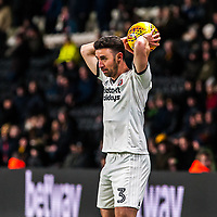 Sheffield United's defender Enda Stevens (3) during the Sky Bet Championship match between Hull City and Sheff United at the KC Stadium, Kingston upon Hull, England on 23 February 2018. Photo by Stephen Buckley / PRiME Media Images.