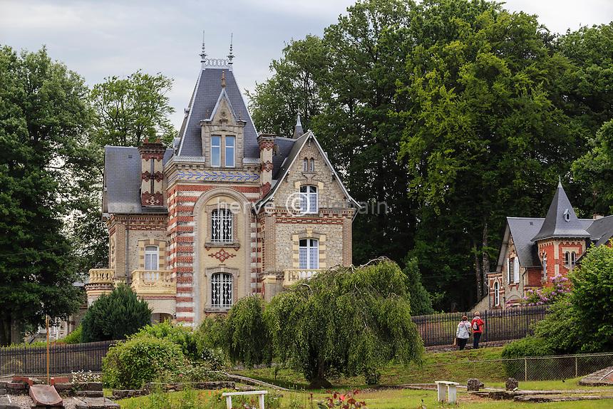 France, Orne (61), Bagnoles-de-l'Orne, villa du quartier Belle Époque, villa le Castel // France, Orne, Bagnoles de l'Orne, Belle Epoque villa, villa the Castel