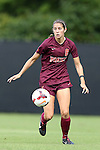 29 September 2013: Virginia Tech's Danielle King. The Duke University Blue Devils hosted the Virginia Tech University Hokies at Koskinen Stadium in Durham, NC in a 2013 NCAA Division I Women's Soccer match. The game ended in a 1-1 tie after two overtimes.