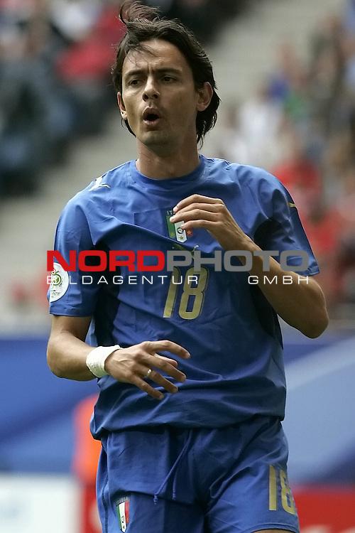 FIFA WM 2006 -  Gruppe E Vorrunde ( Group E )<br /> Play   #41 (22-Jun) - Tschechien - Italien 0:2<br /> <br /> INZAGHI Filippo #18<br /> <br /> <br /> Foto &copy; nordphoto