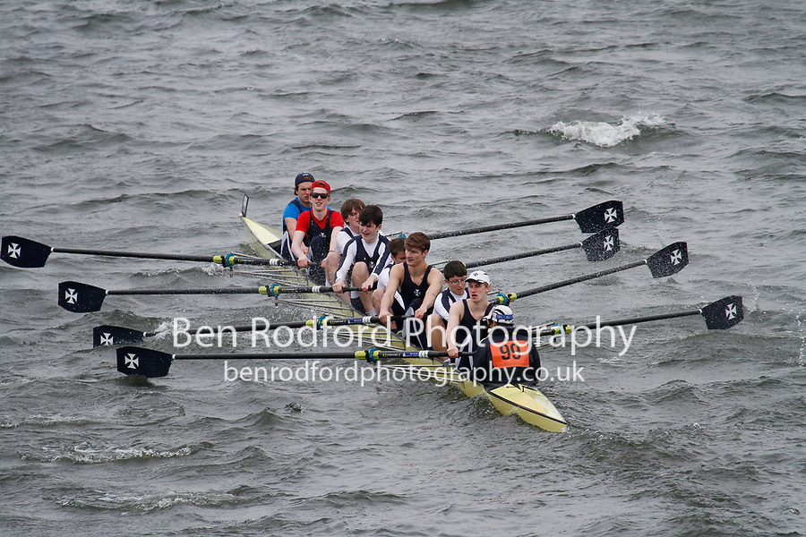 Crew: 99  Royal Shrewsbury Sch  Event: School 3rd Eights<br /> <br /> Schools' Head of the River 2017<br /> <br /> To purchase this photo, or to see pricing information for Prints and Downloads, click the blue 'Add to Cart' button at the top-right of the page.