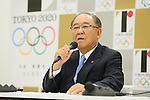 Fujio Mitarai,<br /> AUGUST 7, 2015 : <br /> Tokyo 2020 Organising Committee holds <br /> a media conference following its interviews <br /> with eight sports International Federations (IFs), <br /> hoping to enter the program <br /> for the Tokyo 2020 Olympic Games in Tokyo Japan. <br /> (Photo by YUTAKA/AFLO SPORT)