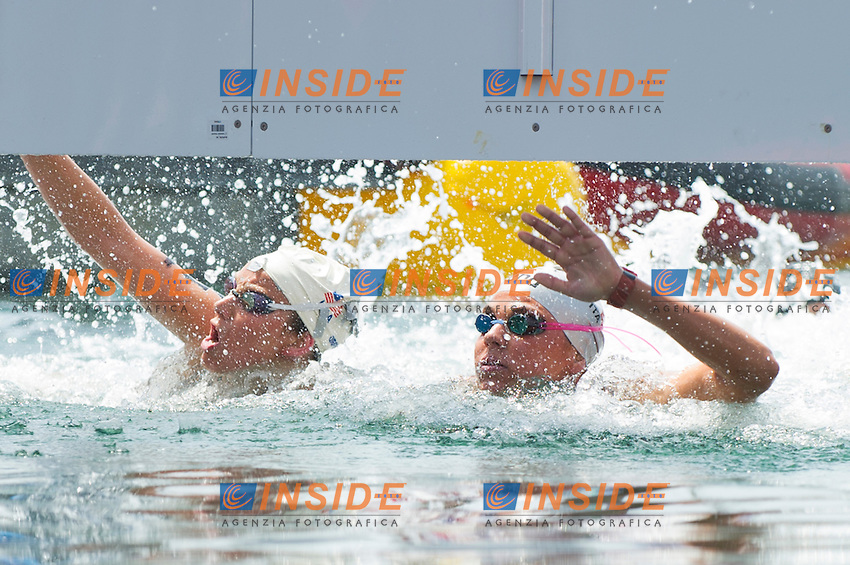 Martina Grimaldi ITA<br /> Women 25 km <br /> Open Water<br /> 15th FINA World Aquatics Championships<br /> Barcelona 19 July - 4 August 2013<br /> Barcelona (Spain) 27/07/2013 <br /> &copy; Giorgio Perottino / Deepbluemedia.eu / Insidefoto