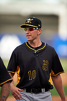 Bradenton Marauders Jordan George (10) after the first game of a doubleheader against the Tampa Yankees on April 13, 2017 at George M. Steinbrenner Field in Tampa, Florida.  Bradenton defeated Tampa 4-1.  (Mike Janes/Four Seam Images)