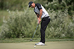 SUGAR GROVE, IL - MAY 31: Norman Xiong of the University of Oregon putts during the Division I Men's Golf Team Championship held at Rich Harvest Farms on May 31, 2017 in Sugar Grove, Illinois. Oklahoma won the team national title. (Photo by Jamie Schwaberow/NCAA Photos via Getty Images)
