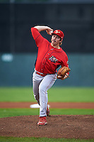 Williamsport Crosscutters pitcher Mitch Gueller (24) delivers a pitch during a game against the Batavia Muckdogs on August 29, 2015 at Dwyer Stadium in Batavia, New York.  Williamsport defeated Batavia 7-3.  (Mike Janes/Four Seam Images)