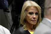 """Senior Counselor Kellyanne Conway attends a briefing on drug trafficking on the Southern Border at the White House in Washington on March 13, 2019. United States President Donald J. Trump said the FAA will soon announce it is grounding the Boeing 737 MAX 8 and 737 MAX 9 """"Until further notice,"""" he said  """"The safety of the American people, of all people, is our paramount concern.""""<br /> Credit: Yuri Gripas / Pool via CNP"""