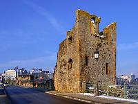 Dente Creuse-Hohler Zahn der Festung auf  Mont&eacute;e de Clausen, Luxemburg-City, Luxemburg, Europa, UNESCO-Weltkulturerbe<br /> Dente Creuse-hollow tooth part of fortification on Mont&eacute;e de Clausen, Luxembourg City, Europe, UNESCO Heritage Site