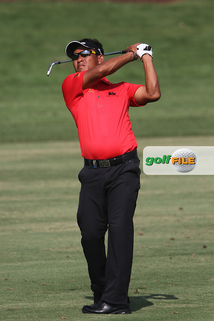 Thongchai Jaidee (THA) on the 10th during Round 4 of the DP World Tour Championship, Jumeirah Golf Estates, Dubai, United Arab Emirates. 25/11/12...(Photo Jenny Matthews/www.golffile.ie)