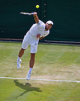 29-06-13, England, London,  AELTC, Wimbledon, Tennis, Wimbledon 2013, Day six, Viktor Troicki (SRB)<br /> <br /> <br /> <br /> Photo: Henk Koster