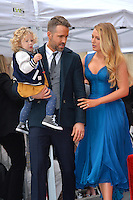 Actor Ryan Reynolds &amp; wife actress Blake Lively &amp; daughter James Reynolds (2) at the Hollywood Walk of Fame Star Ceremony honoring actor Ryan Reynolds.<br /> Los Angeles, CA. <br /> December 15, 2016<br /> Picture: Paul Smith/Featureflash/SilverHub 0208 004 5359/ 07711 972644 Editors@silverhubmedia.com