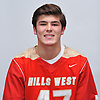 Gerald Filardi of Half Hollow Hills West poses for a portrait during Newsday's 2017 varsity boys lacrosse season preview photo shoot at company headquarters on Saturday, March 25, 2017.